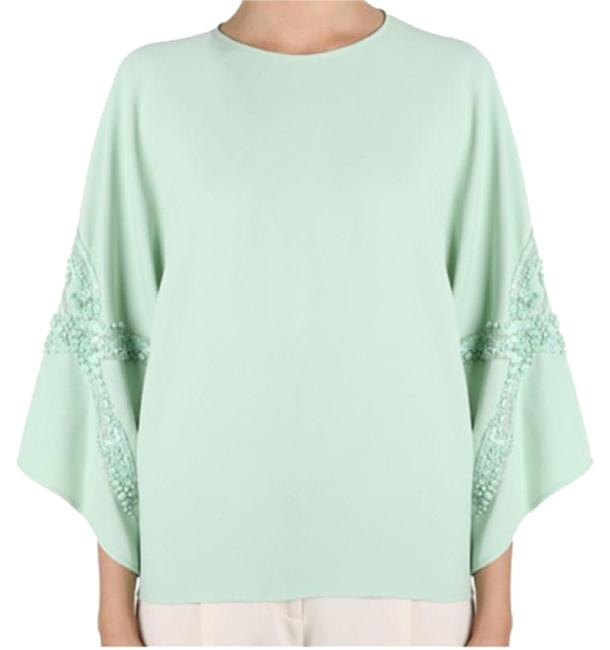 Preload https://item4.tradesy.com/images/elie-saab-green-mint-wide-sleeved-l-tunic-size-10-m-23651923-0-1.jpg?width=400&height=650