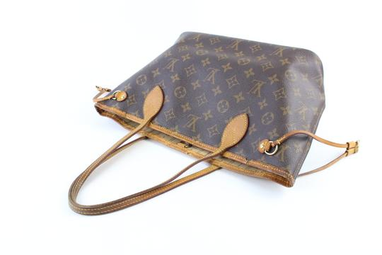 Louis Vuitton Damier Azur Mm Gm Neverfull Tote in Brown