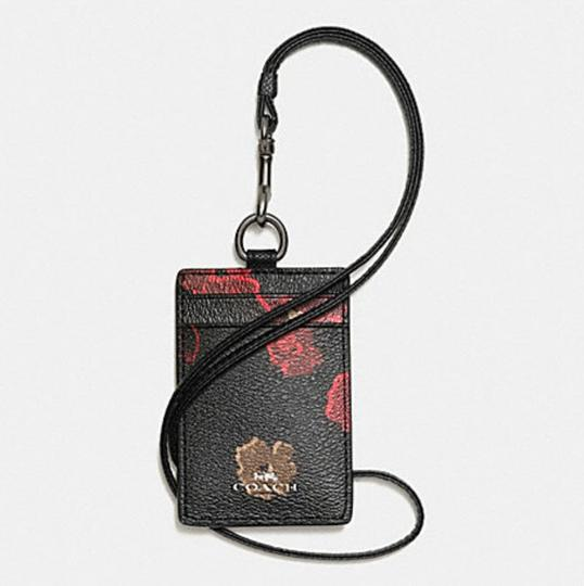 Coach Coach LANYARD ID IN HALFTONE FLORAL PRINT COATED CANVAS 63274