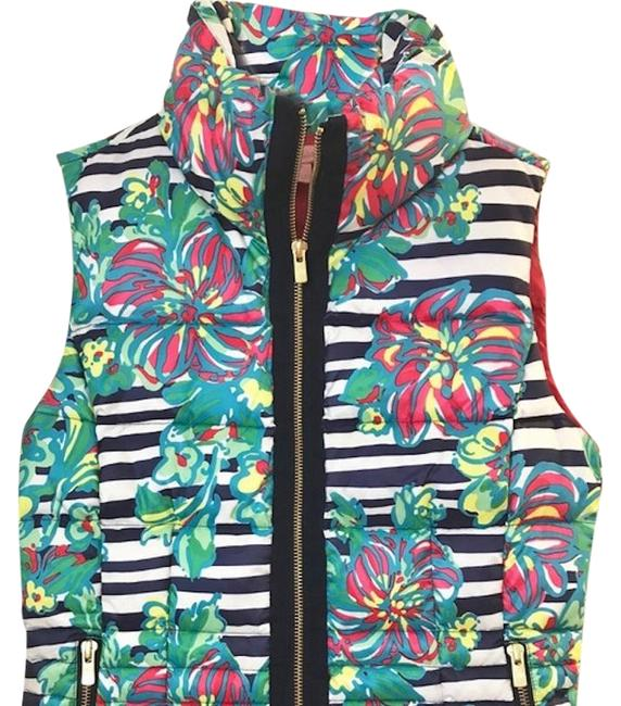 Item - Pink Navy Syd Down Puffer Vest Size 0 (XS)