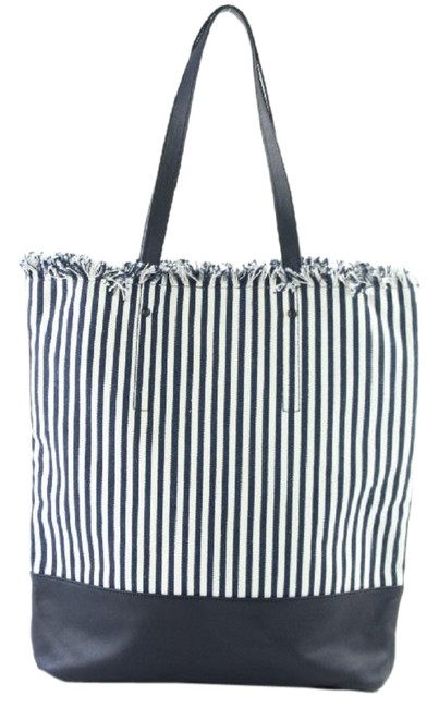 Item - Cruise Tassel Stripe 25mz0706 Navy Leather Tote