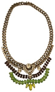 Courtney Lee Melanie Multicolor Crystal Bib Necklace
