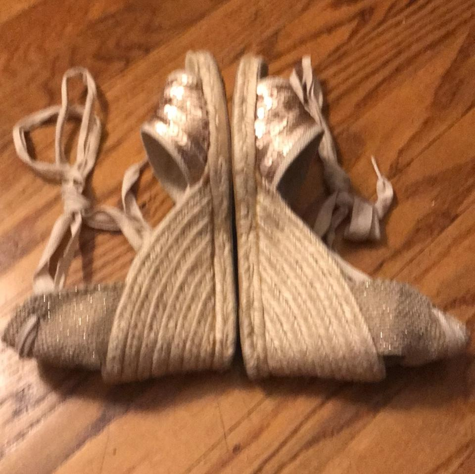 8d110f4a745 Circa Joan   David Espadrille Ankle Tie Sequin Neutral Wedges Image 7.  12345678