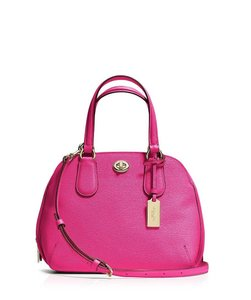 Coach Leather Prince Handbag Satchel in Ruby Pink