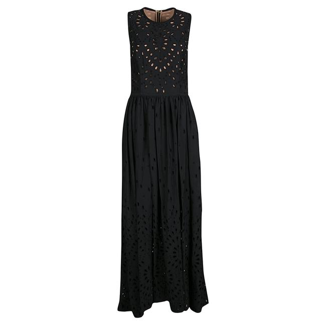 Preload https://img-static.tradesy.com/item/23652174/elie-saab-black-eyelet-embroidered-gathered-sleeveless-maxi-long-formal-dress-size-4-s-0-0-650-650.jpg