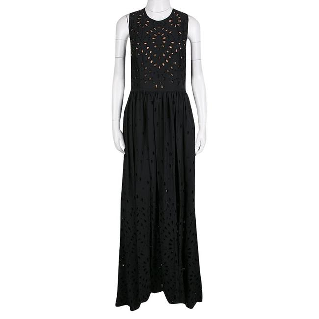 Elie Saab Embroidered Cotton Silk Dress