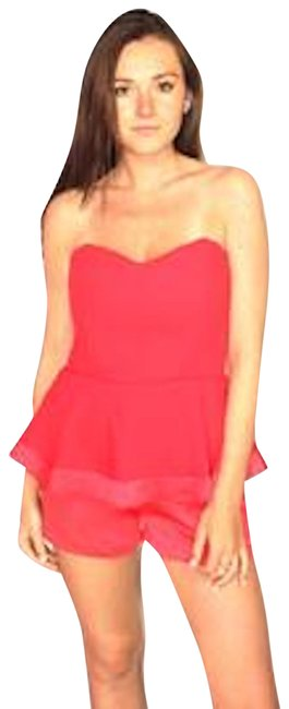 Preload https://item1.tradesy.com/images/parker-bright-red-strapless-ruffled-small-new-short-romperjumpsuit-size-4-s-23652185-0-1.jpg?width=400&height=650