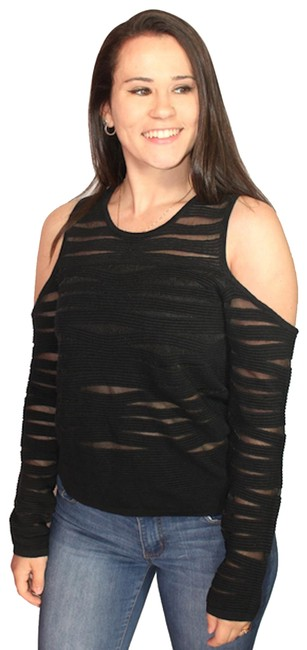 Preload https://item3.tradesy.com/images/parker-black-open-shoulder-mesh-large-new-with-tags-sweaterpullover-size-12-l-23652197-0-1.jpg?width=400&height=650