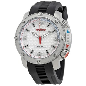 Red Line Red Line Silver Dial Rubber Strap Mens Watch RL-310-02S