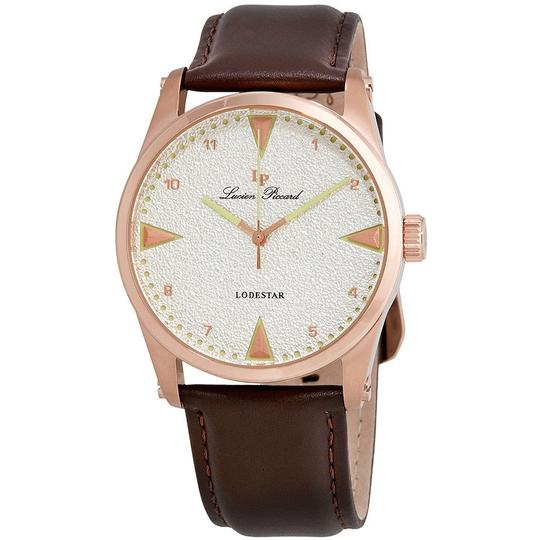Preload https://img-static.tradesy.com/item/23652286/lucien-piccard-silver-dial-brown-leather-mens-40035-rg-02s-brw-watch-0-0-540-540.jpg