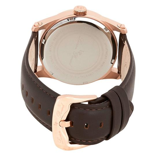 Lucien Piccard Lucien Piccard Silver Dial Brown Leather Mens Watch 40035-RG-02S-BRW
