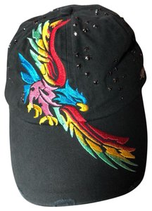 Bejeweled by Susan Fixel Black Bird Embroidered Hat