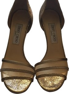 Jimmy Choo Gold and Tan Formal