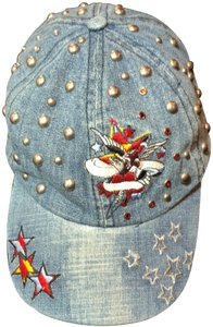 Bejeweled by Susan Fixel Shooting Star Embroidered and silver studded Hat