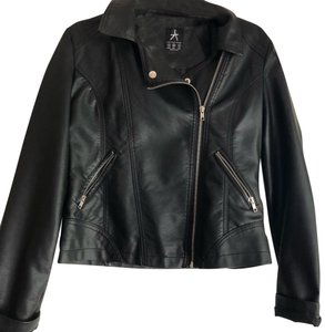 French Atmosphere black Leather Jacket
