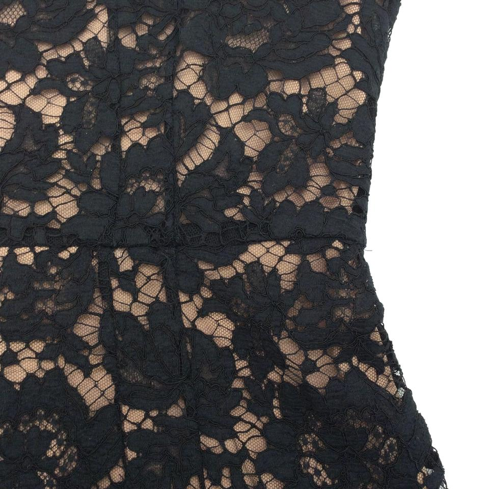 02c89a6c90ff Valentino Black / Nude Guipure Lace Bow Mid-length Cocktail Dress Size 8 (M)  - Tradesy