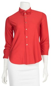Balenciaga Button Down Shirt red