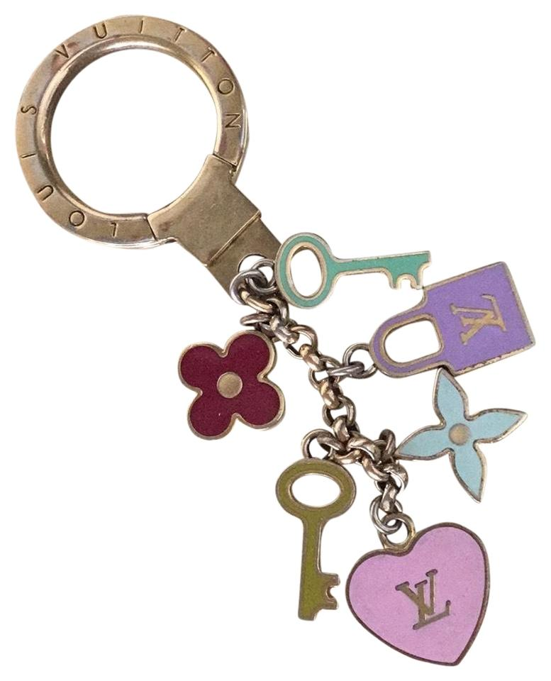 Louis Vuitton Multicolor Charm With Six Charms Two Keys One Flower