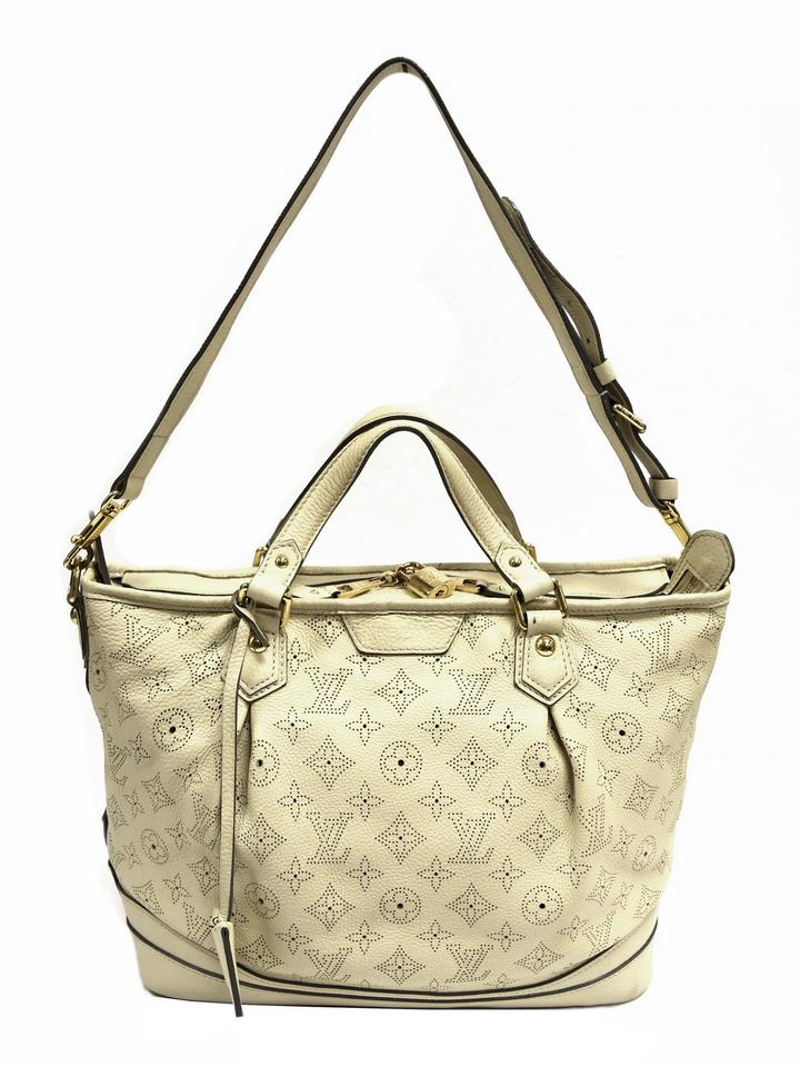 Louis Vuitton Mahina Monogram White Leather Tote - Tradesy 7915d6df8d276