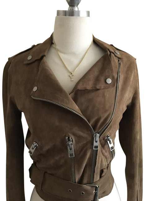 Item - Taupe Suede Jacket Size 4 (S)