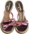 Chanel Pink and Burgundy Sandals