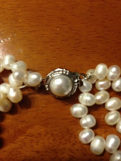 Other 3-strand irregular pearl choker necklace