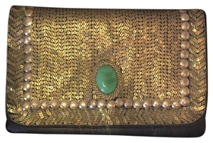 Moyna black and gold Clutch
