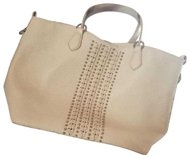 Item - Soft Shoulder Or Body Bag..dual Cream Leather Tote