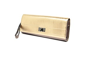 Givenchy Lamb Leather Wristlet in Copper Gold