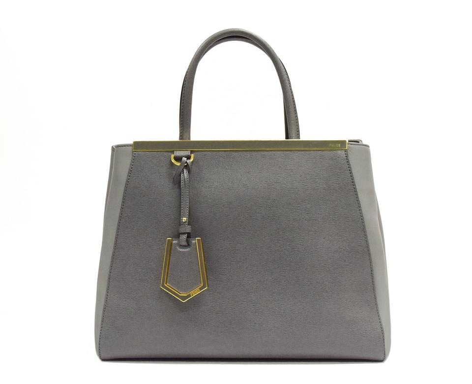 4c2d7667c159 Fendi 2jours Medium Grey Leather Tote - Tradesy