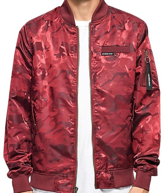 Item - Red Camo Bomber Jacket Size 4 (S)