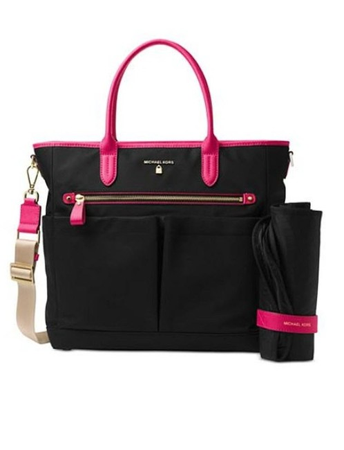 Item - Travel Laptop Gym Ultra Pink Black Nylon Diaper Bag