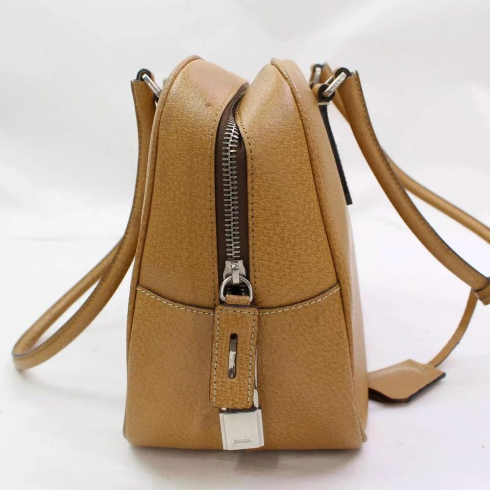 71b4f59f4355 Prada Light Brown Or Tan Leather Shoulder Bag - Tradesy