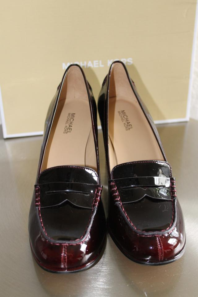 23e25569f56 Michael Kors Deep Red Patent Bayville Loafer Formal Shoes Size EU 38.5  (Approx. US 8.5) Regular (M