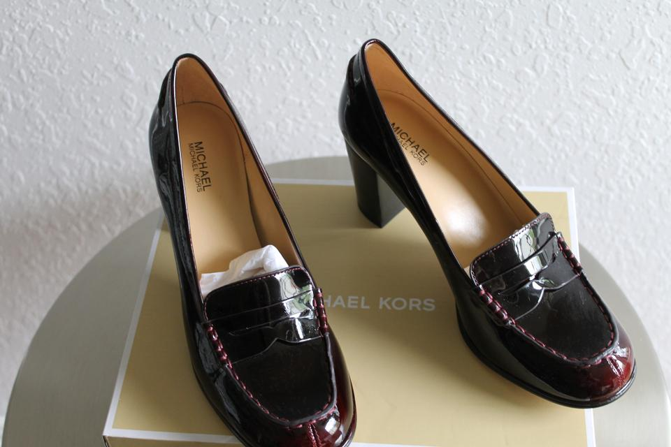74542622586 Michael Kors Never Worn New In Box 3.5 Heel Deep Red Patent Formal Image  11. 123456789101112