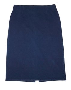 J. Jill Stretch Soft Cotton Skirt Indigo