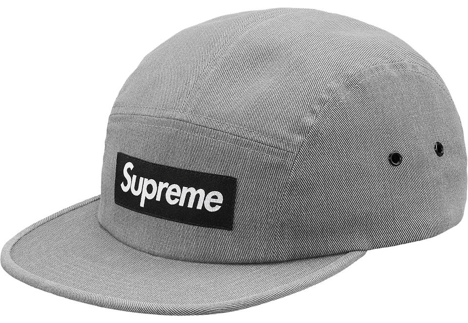 7f9d0ec0dbbc8 Supreme Grey And Black Classic Reactive Camp Cap Box Logo Hat - Tradesy