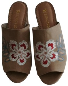 Restricted Tan Mules