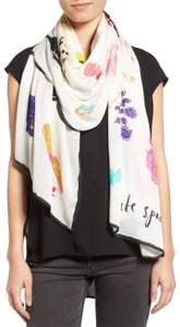 Kate Spade NEW Kate Spade New York Things We Love Scarf Ivory Multicolor Long