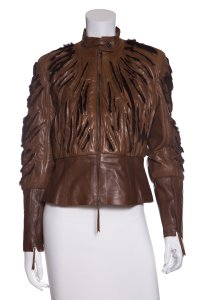 Jitrois Brown Leather Jacket