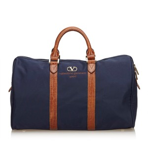 157ca575c3d Valentino 8fvltr002 Blue Travel Bag - item med img. Valentino. Duffle Blue Fabric  X Nylon X Leather X Others Weekend/Travel Bag