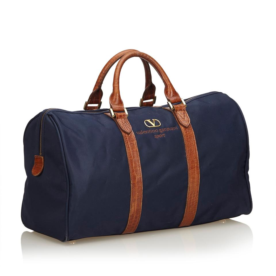 8c4273c17cc Valentino Duffle Blue Fabric X Nylon X Leather X Others Weekend ...