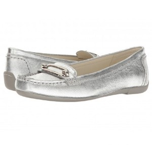 Anne Klein Leather Casual Silver Flats