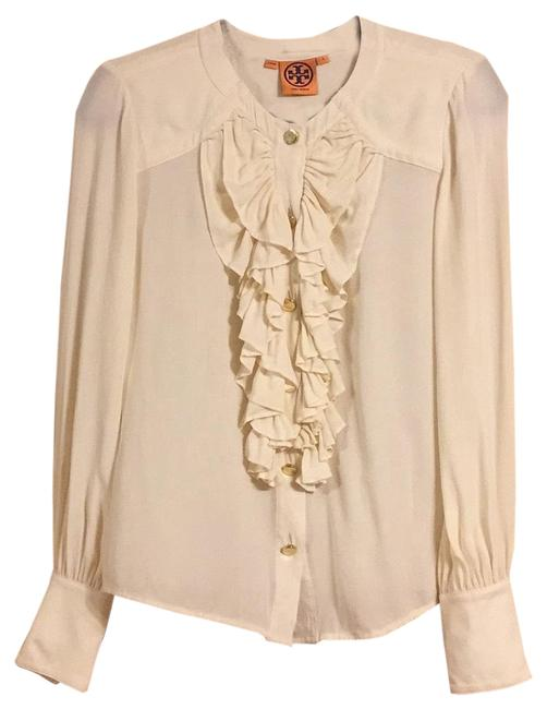 Item - Cream Button-down Top Size 4 (S)