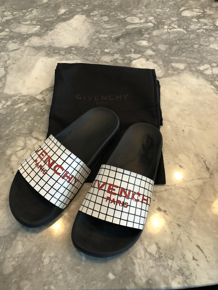 Black Givenchy Sandals Slides White and dqqw7xS
