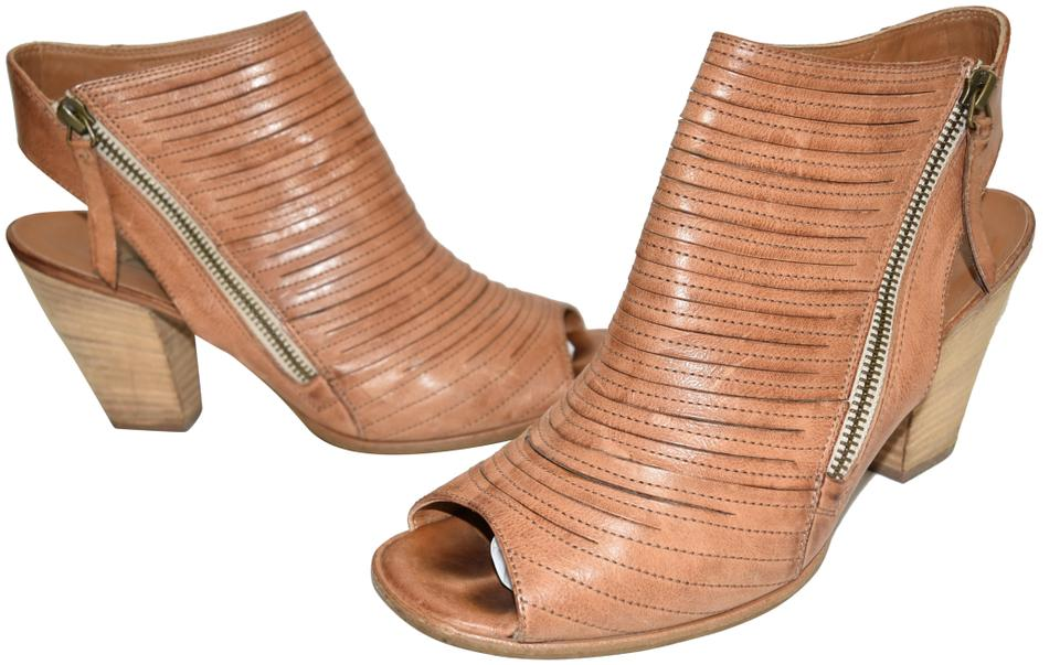 6838dcc8aa7 Paul Green Cuoio Brown Cayanne Leather Peep Toe Bootie Boot 7au ...