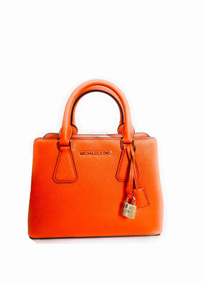 1171eb868565 Michael Kors Camille Small Satchel Satchel Tophandle Tangerine ...
