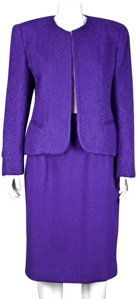 dbefcb658f4b Dior Purple Vintage Mohair   Wool Skirt Suit Size 8 (M) - Tradesy