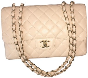 20f948ab876a6c Chanel Leather Gold Hardware Gold Chain Classic Shoulder Bag