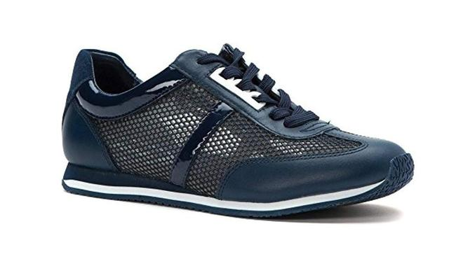 Item - Navy 'maggie' Perforated Fashion Sneakers Size US 8 Regular (M, B)